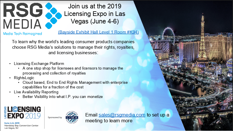 Join RSG Media at the 2019 Licensing Expo